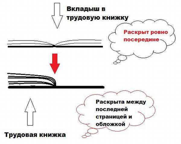 Процесс подготовки к вшитию вкладыша в трудовую книжку - фото