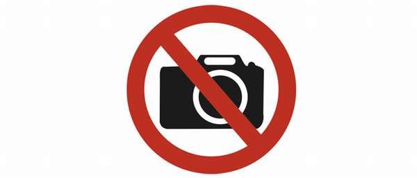 Где запрещено фотографировать а где можно